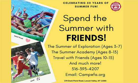 Click here to go to the Friends Academy Summer Camp website