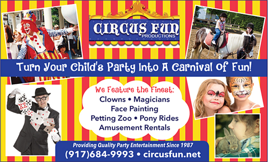 Click here to go to the Circus Fun Productions featuring Peter T. Clown & Amusements Galore! website
