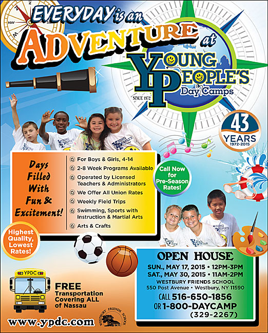 Click here to go to the Young People's Day Camp Ad website