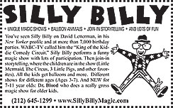 Click here to go to the Silly Billy website