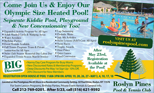 Click here to go to the Roslyn Pines Pool and Tennis Club website