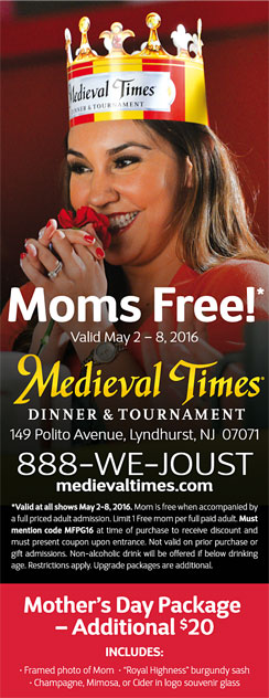 Click here to go to the Medieval Times Mothers Day website