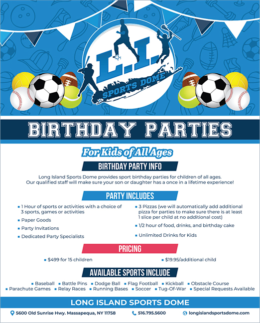 Click here to go to the Long Island Sports Dome_Birthday website