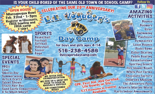 Click here to go to the LI Voyager's Day Camp website