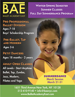 Click here to go to the Ballet Academy East website