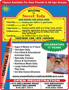 Click here to go to the Sweet Tots Creative Childcare website