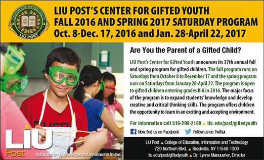 Click here to go to the LIU Center for Gifted Youth website