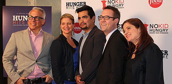 From left to right, Geoffrey Zakarian, Amanda Freitag, Aaron Sanchez, Tim Allen and Alex Guarnaschelli, were all present at the screening.