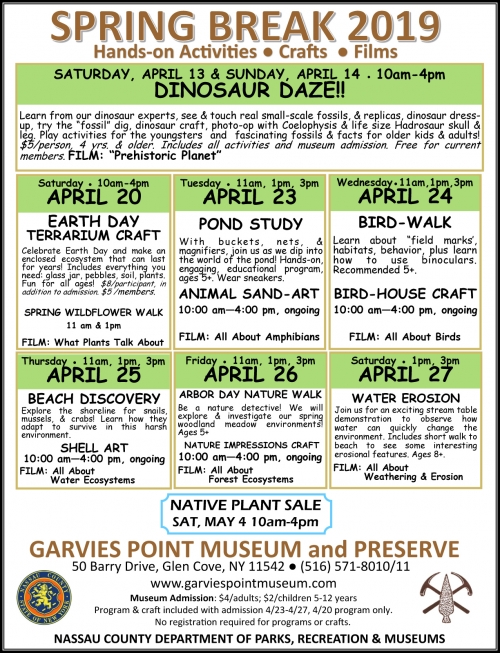 Spring Break at Garvies Point Museum & Preserve