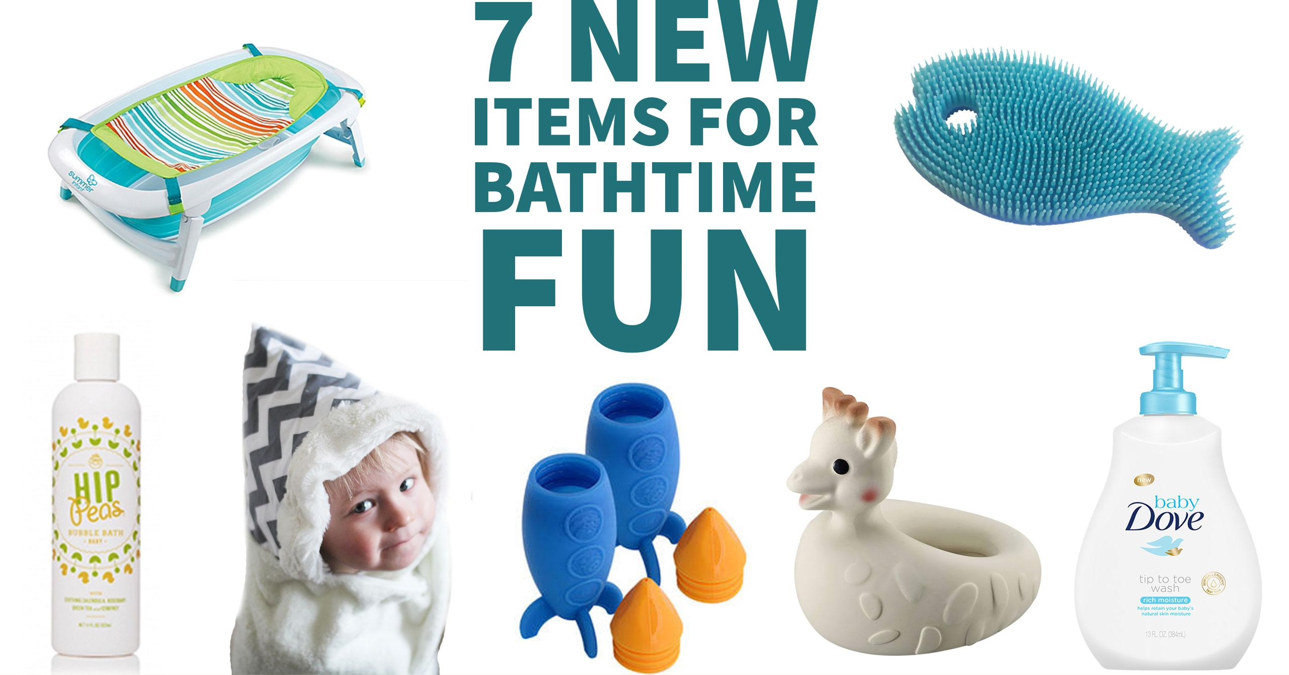 7 New Items for Bathtime Fun