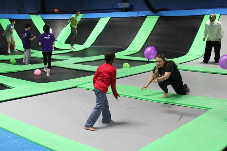 Sky Zone is the creator of the world's first all-trampoline, walled playing courts, designed by top engineers, welders and carpenters. It offers the ultimate 3-D play experience and unmatched high-flying fun and enjoyed by any age, shape or physical ability on a regular basis.