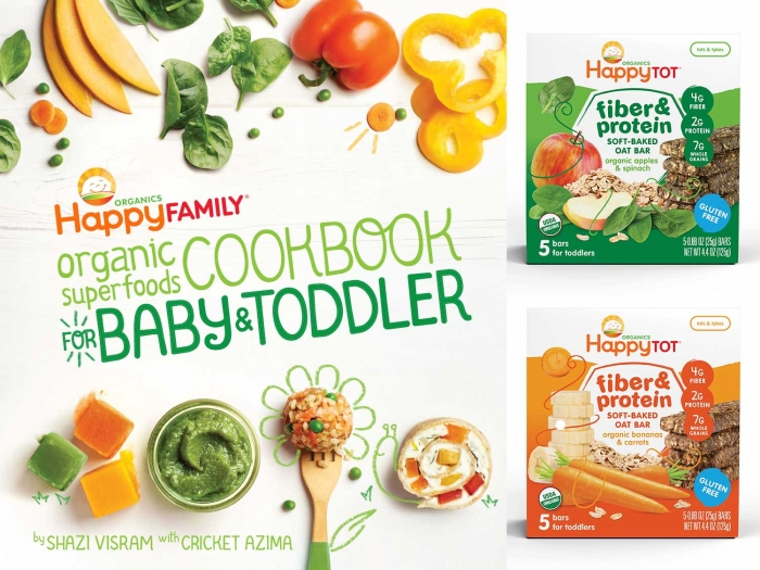 Happy Family Organic Superfoods Cookbook & Snack Happy Gift Set