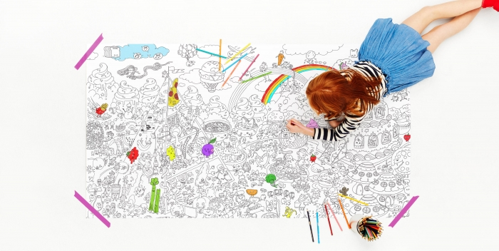 Really Big Coloring Posters: Eco-Ink