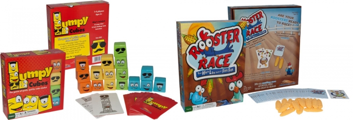 Rooster Fin Games: Lumpy Cubes & Rooster Race