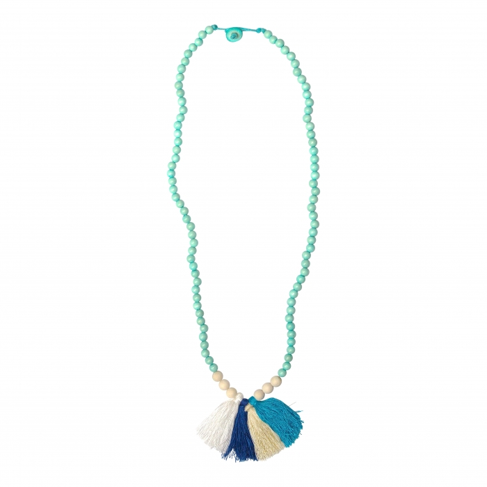 Swell Caroline's Ridley Wood Bead Tassel Necklace